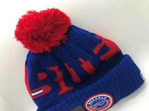 Winter Beanie Hat New Buffalo Bills New Era Knit On Field Sideline Fleece Cap.