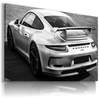 PORSCHE 911 SILVER Sports Cars Wall Art Canvas Picture  AU861  MATAGA .