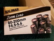 KALIMAR Minolta Camera Lens, Macro Zoom 80-200mm f/4.0-5.6 Lens, instructions