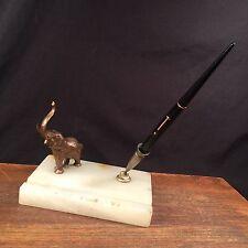 Vtg Antique Eversharp Pen 14k Gold Brass or Bronze Elephant Marble PRIORITY MAIL