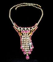 Exklusives Strass Collier - Crystal/Rosa - 1A-Qualität aus Böhmen - #811