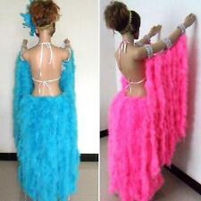 Turkey Feather Strip Fluffy Boa 2 Meter Women Party Decor Craft DIY Wedding Y