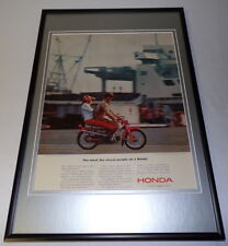 1964 Honda Super Sports Cycle Framed 11x17 ORIGINAL Vintage Advertising Poster