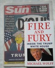 MICHAEL WOLFF.FIRE AND FURY.DONALD TRUMP *D'OH! LISA SIMPSON* & THE SUN NEWS 16