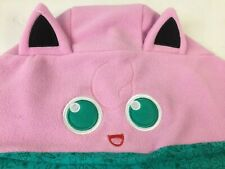 Pokémon Jigglypuff Hat Hooded Reversible Scarf Pink Turquoise Hood Adult One Sz