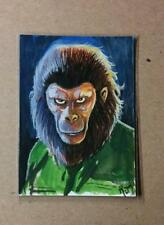 Caesar Sketch Card ACEO Original Art  Conquest of the Planet of the Apes 1/1