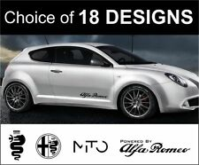 Alfa Romeo mito brera 146 146 147 156 decals stickers x2