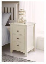 Di Alta Qualità Elegante Crema in legno massello 3 cassetti armadio letto Side Table Lampada Nuova