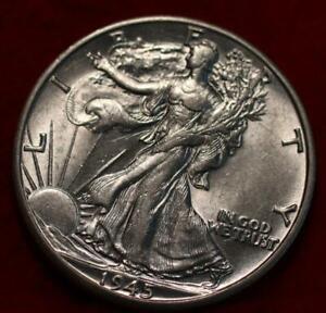 Uncirculated 1945-D Denver Mint Silver Walking Liberty Half
