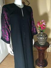 Fancy Khaleeji Abaya Arabic Embilished Half Open Jilbab Dubai Made Size 56 M