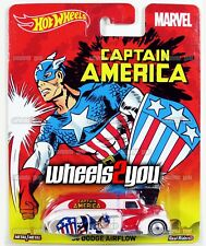 38 DODGE AIRFLOW Captain America - Hot Wheels Pop Culture MARVEL Real Riders