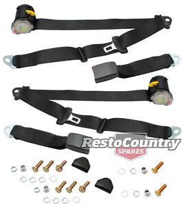 Holden Commodore Rear Inertia Reel Seat Belt PAIR Black VK VL Sedan Wagon