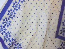 "Vintage Vera Folk Art Hearts Scarf 100% Silk 21"""