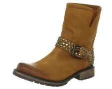 STEVE MADDEN FRAANKIE LEATHER STUDDED BOOTS SIZE 8.5 COGNAC
