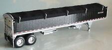 DCP TANDEM AXLE BLACK GRAIN BLACK TARP TRAILER 1/64 DIECAST 33616