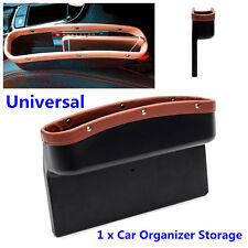 Car Auto Seat Gap Slit Pocket Storage Organizer Leather Large Catch Catcher Box