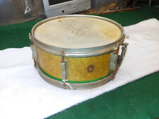 Vintage WFL 14 Snare Drum WFL snare drum 1948-1952. WFL  RARE Gold Green yellow