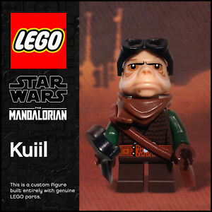 GENUINE LEGO Star Wars The Mandalorian Kuiil custom minifigure MOC 100% LEGO