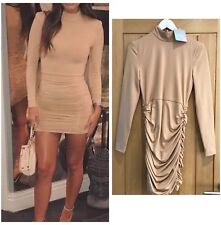 Missguided Nude Long Sleeve Bodycon Size 8 BNWT Paid £80