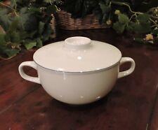 Royal Copenhagen Blue Line Pattern 3081 Soup Cream Bowl with Lid Set #1