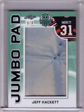JEFF HACKETT 17/18 Leaf Masked Men JUMBO EMERALD LEATHER PAD PATCH #8/8 Rare SP