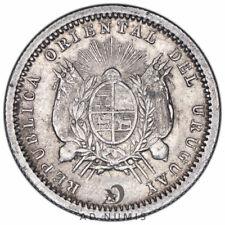 10 Centesimos 1877 Mit Uruguay Sup - Silber