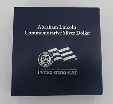 2009 Abraham Lincoln Commemorative Proof Silver Dollar, COA, Mint Packaging, LN7