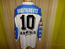 Arminia bielefeld Reusch manga larga matchworn camiseta 96/97 + nº 10 breitkreutz talla XL