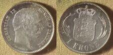 Denmark : 1875 1 Kroner AU Tone Area #797.1    IR8571