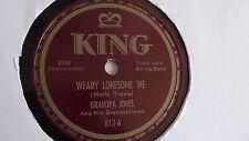 Grandpa Jones - 78rpm single 10-inch – King #812 Weary Lonesome Me
