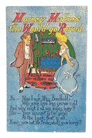 Money Makes the World Go Round Comic Unposted Postcard E515