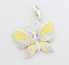 THOMAS SABO Anhänger Schmetterling groß Zirkonia weiß emailliert gelb gelackt...