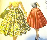 Circle Skirt Vintage Sewing Pattern Soft Box Pleated Size 26 Waist McCalls 3511