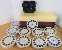 Vintage 1950s Sawyer's VIEW-MASTER (Model C) Storage Case & 183 Reels Bakelite