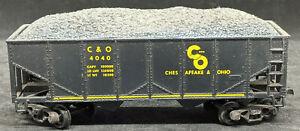 REVELL HO: Chesapeake & Ohio C&O 4040 Blue Hopper Sprung Trucks 1956 USA