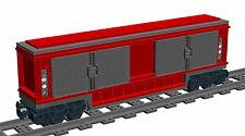 Lego Custom FREIGHT CAR Wagon No.2 (Wagon/Train/Railway) INSTRUCTIONS ONLY!!