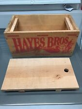 Rare Vintage Hayes Bros 000 buck 12 ga shot gun shells empty ammo box Wood