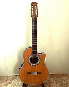 1992 Ovation Celebrity CC53 Classical Acoustic/Electric Guitar, Spruce + Case