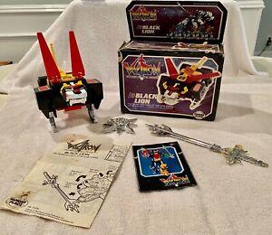 Vintage 1984 Voltron Black Lion - Sword, Spin Laser, Booklet, Instructions, Box