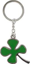 32025 Lucky Four Leaf Clover Irish Ireland Metal Key Chain Fob Keychain Keyring