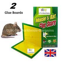 2 Super Mouse Rat Mice Glue Trap Board Sticky Stuck FREE POSTAGE TO UK