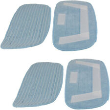 4 x Microfibre Cloth Mop Pads for Morphy Richards 70465 720501 Steam Cleaners