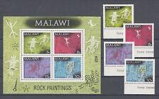 Malawi  182-85 + Block 27  Felszeichnungen    **  (mnh)
