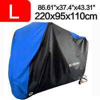 Waterproof Motorcycle Cover Motorbike Breathable Vented Anti Rain UV Snow Wind L