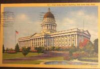 917-Utah State Capitol Building, Salt Lake City, Utah Postmarked 1957