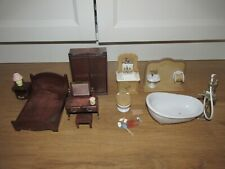 Sylvanian Families Bedroom & Bathroom Furniture Bundle / Job Lot