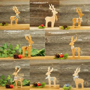 Reh versch. Varianten Hirsch Rentier Elch Holz Advent Weihnachtsdeko Deko Tiere