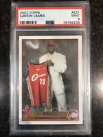 2003-04 Topps Lebron James Rookie #221 Cleveland Cavaliers PSA 9