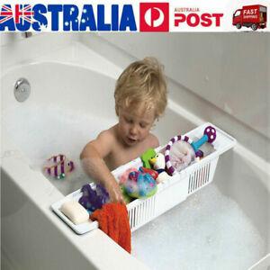 Bath Tub Caddy Toy Organizer Basket Rack Safe White Storage Kids Baby Holder AU