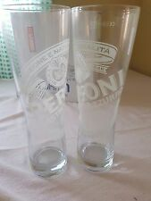 Pair Hiball Hi Ball Mixer Glasses Branded PERONI by Sahm Germany